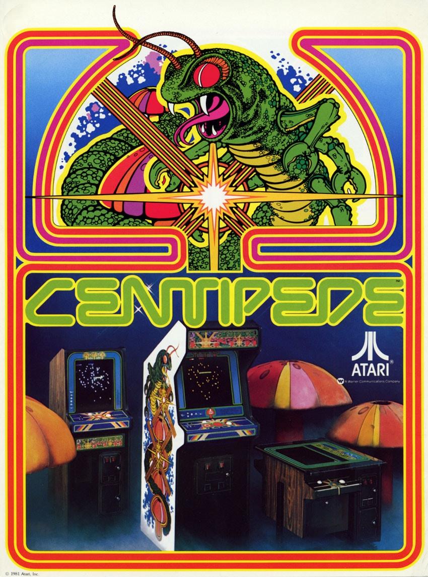 Nos Arcade Artworks préférés !! Centipede-flyer-min