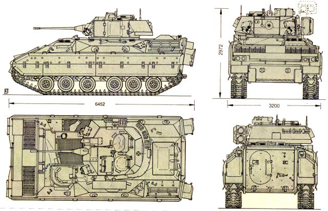 bradley_m2_tracked_armoured_infantry_fighting_vehicle_united_states_us_american_army_line_drawing_blueprint_001