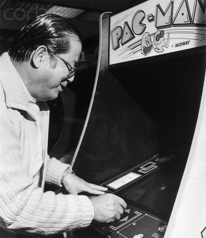 Masaya Nakamura Playing Pac-Man