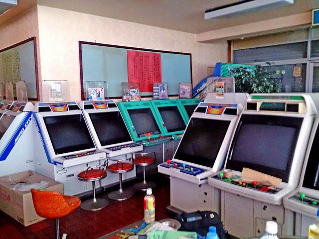 Japanese Arcade Candy Cabinets