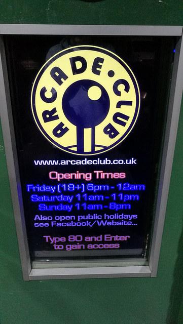 Arcade Club Bury