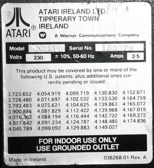 ATARI IRELAND IDENTIFIER
