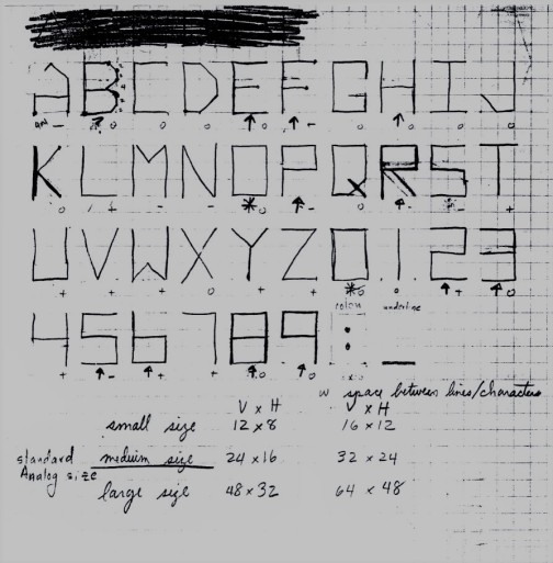 Asteroids Font Drawing