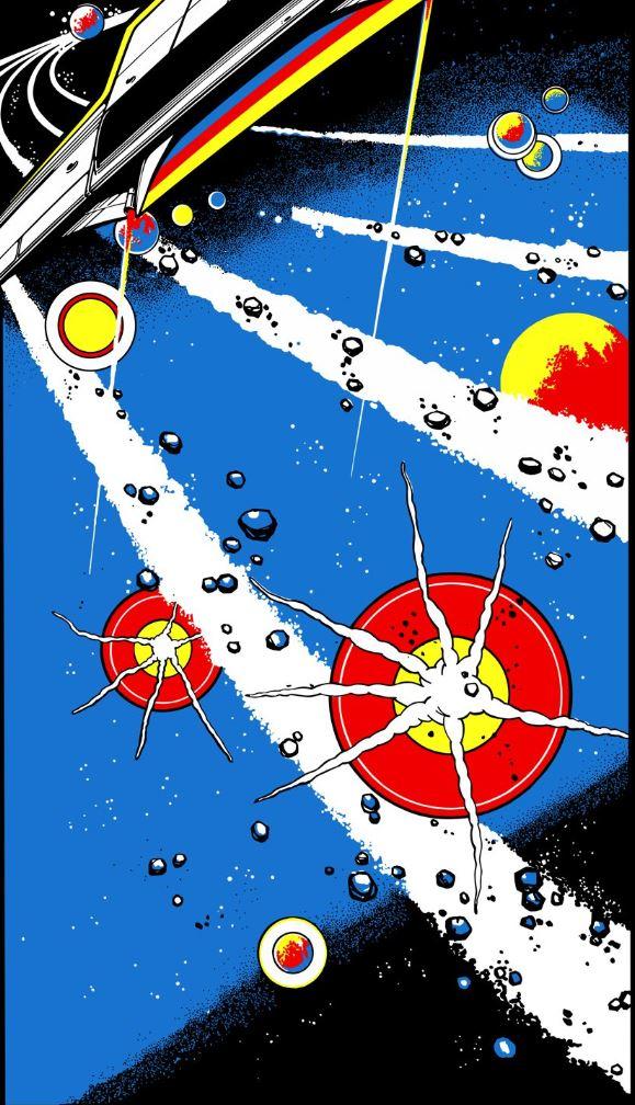 Atari Asteroids Side Art Arcade