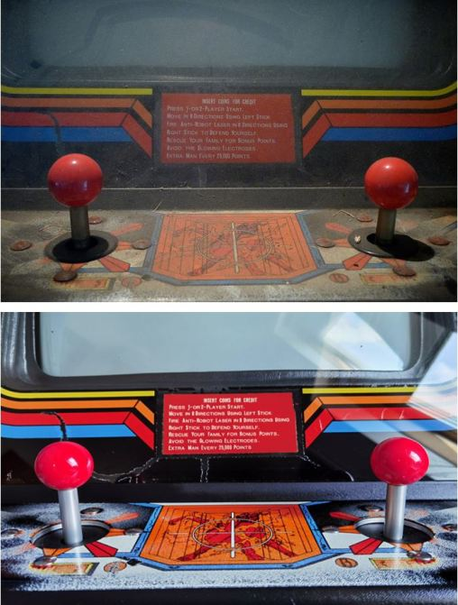 Robotron Sticks Before After 2